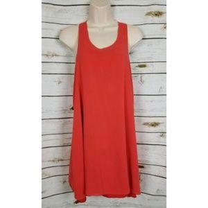 Alice + Olivia Dresses - Alice + Olivia Orange Silk Dress Orange T Strap M